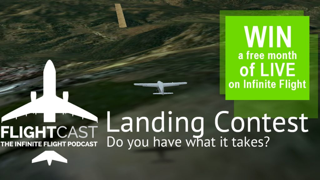 infinite flight landing contest